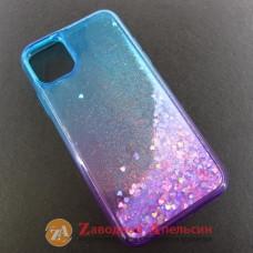Iphone 11 чехол плавающие блестки Аквариум