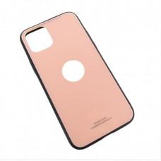 Iphone 11 pro стеклянный чехол розовый Glass Case