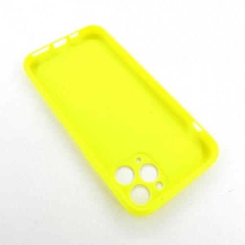 Iphone 11 pro силиконовый чехол желтый Soft Touch